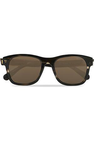 Moncler ML0192 Sunglasses Shiny Dark Brown/Roviex Mirror