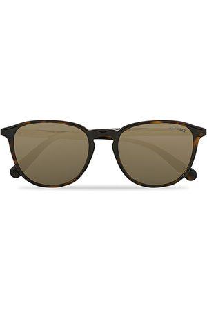 Moncler ML0190 Sunglasses Havana/Green Mirror