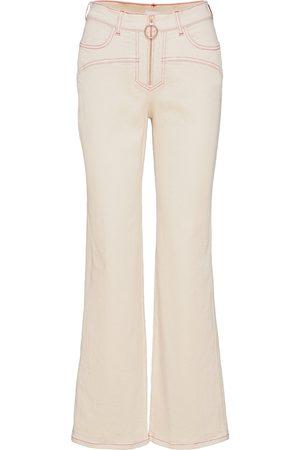 See by Chloé Naiset Leveälahkeiset - Trousers Leveälahkeiset Farkut Kermanvärinen