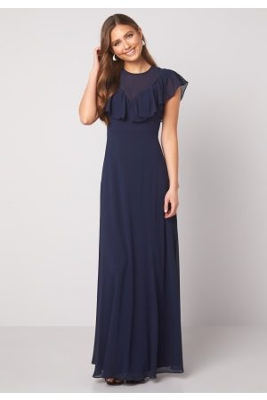 Moments New York Lea Frill Gown Navy 42