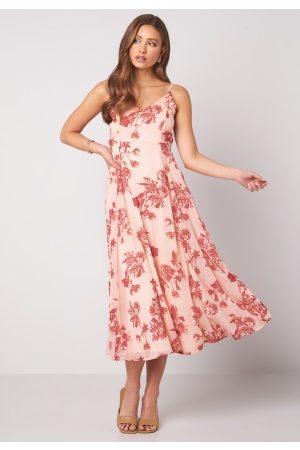 BUBBLEROOM Alana tie back dress Pink / Red 36