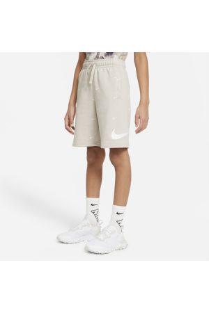 Nike Sportswear Swoosh Older Kids' (Boys') French Terry Shorts - Grey