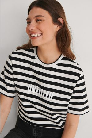 NA-KD Striped Oversized Tee - Multicolor