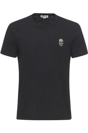 Alexander McQueen Miehet T-paidat - Skull Patch Cotton T-shirt
