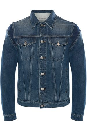 Alexander McQueen Miehet Farkkutakit - Graffiti Cotton Denim Jacket