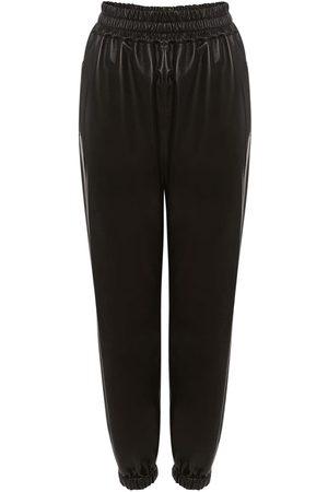 Alexander McQueen Naiset Collegehousut - Leather Jogger Pants