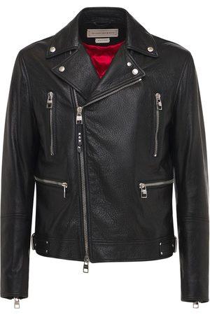 Alexander McQueen Miehet Nahkatakit - Classic Leather Biker Jacket