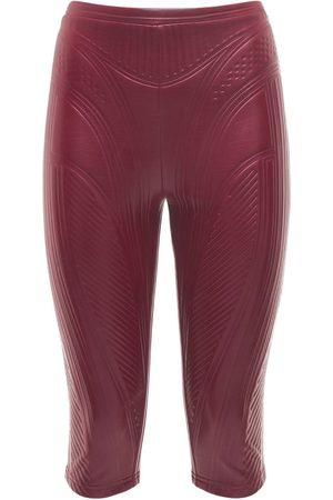 MUGLER Naiset Housut - Embossed Shiny Jersey Biker Pants