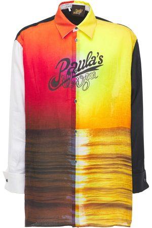 Loewe Paula Sunrise Print Linen Shirt