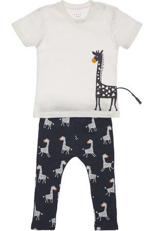 YELLOWSUB Pojat T-paidat - Giraffe Print Cotton T-shirt & Pants