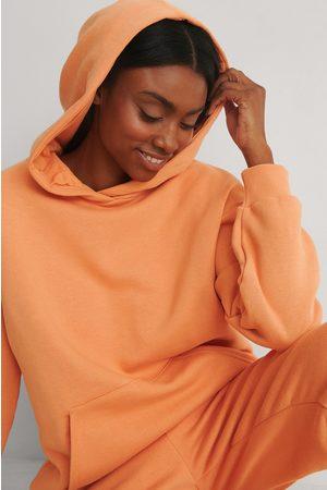 NA-KD Naiset Collegepaidat - Orgaaninen Oversized Taskuhuppari - Orange