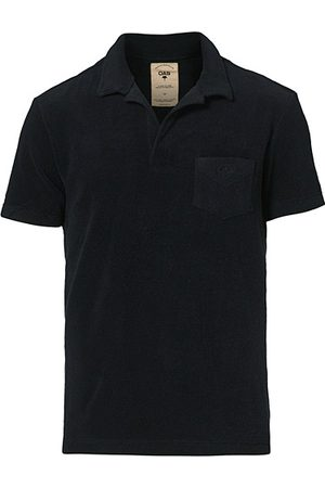 Oas Short Sleeve Terry Polo Black