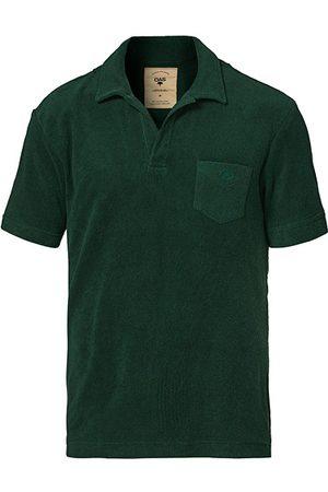 Oas Miehet T-paidat - Short Sleeve Terry Polo Dark Green