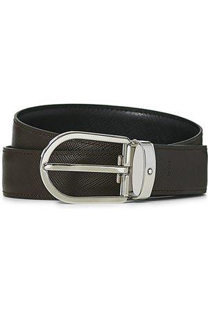 Mont Blanc Miehet Vyöt - Reversible Saffiano Leather 30mm Belt Black/Brown