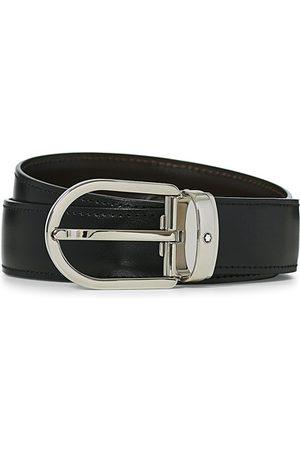 Mont Blanc Reversible Horseshoe Buckle 30mm Belt Black/Brown