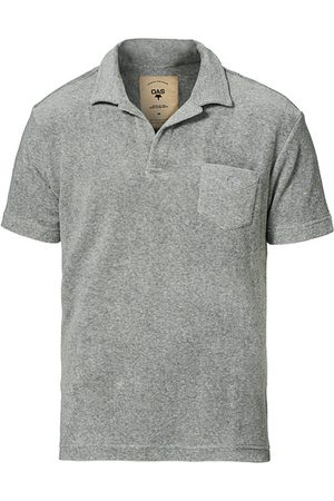 Oas Miehet T-paidat - Short Sleeve Terry Polo Grey Melange