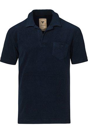 Oas Miehet T-paidat - Short Sleeve Terry Polo Navy