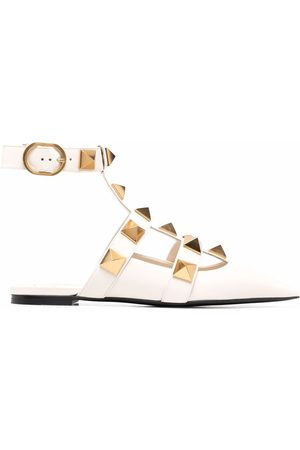 VALENTINO GARAVANI Roman stud ballerina shoes