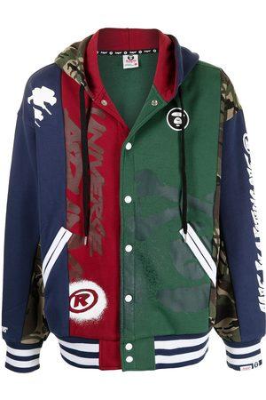 AAPE BY A BATHING APE Colour-block drawstring hoodie