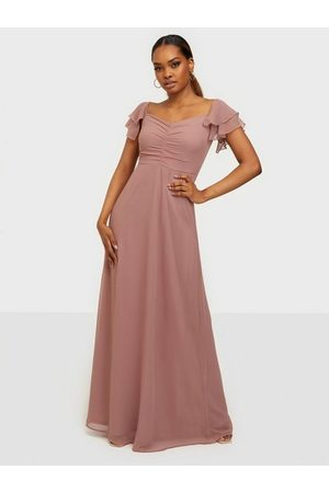 NLY Eve Naiset Juhlamekot - Fancy Frill Gown Dusty Pink