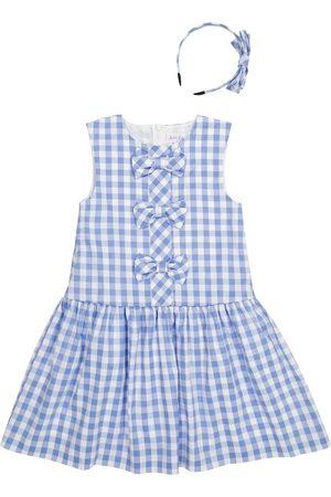 Rachel Riley Tytöt Printtimekot - Gingham dress and hairband set