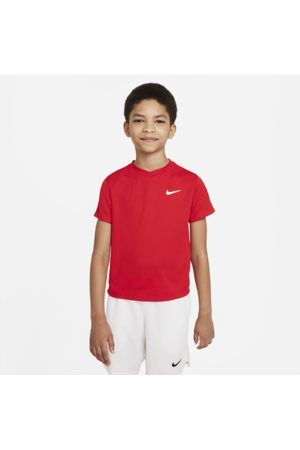 Nike Court Dri-FIT Victory Older Kids' (Boys') Short-Sleeve Tennis Top - Red
