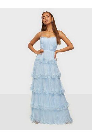 True Decadence Lace Pleated Maxi Dress