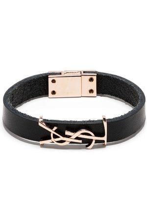 Saint Laurent Naiset Rannekorut - YSL logo leather bracelet