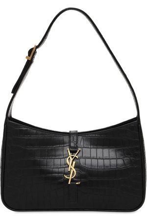 Saint Laurent Naiset Olkalaukut - Le 5 À 7 Croc Embossed Leather Bag