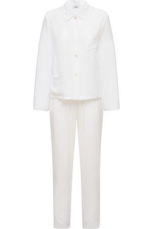 AG Naiset Pyjamat - Silk Blend Satin Pajama Set