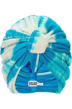 MaryJane Claverol Biba Knotted Tie Dye Terry Cloth Turban
