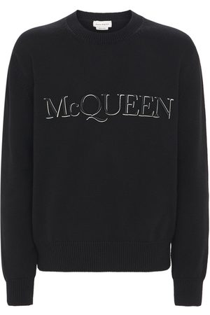 Alexander McQueen Logo Embroidery Cotton Knit Sweater