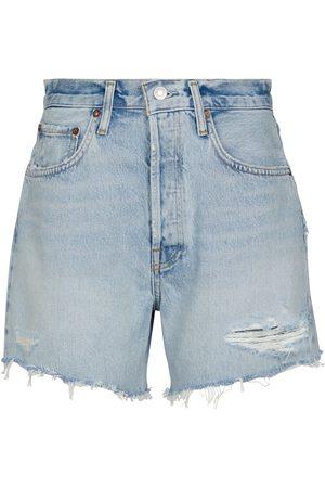 AGOLDE Riley high-rise denim shorts