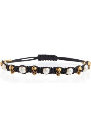 Alexander McQueen Skull embellished cord bracelet