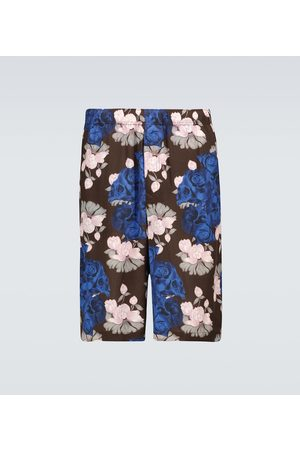 UNDERCOVER Miehet Shortsit - Floral and skull printed shorts