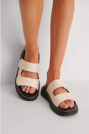 NA-KD Naiset Tohvelit - Contrast Stitch Slippers