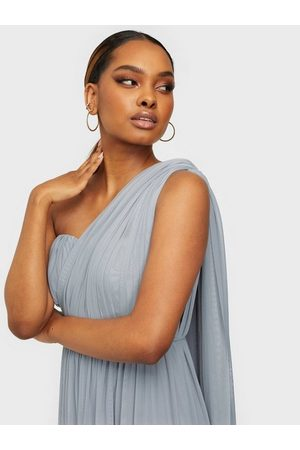 NLY Eve Convertible Mesh Gown Dusty Blue