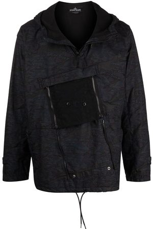 STONE ISLAND SHADOW PROJECT Abstract-print hooded jacket