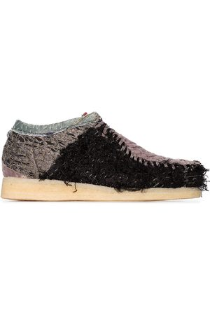 By Walid Connie patchwork lace-up shoes