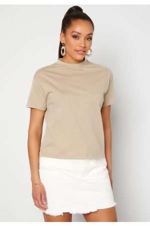Trendyol Naiset T-paidat - Eco Cotton Relaxed T-Shirt Tas/Stone S