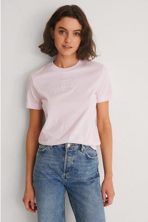 Calvin Klein Naiset Paidat - Orgaaninen T-paita Monogrammilogolla - Pink