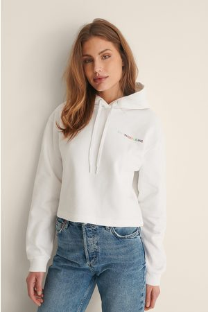 Calvin Klein Naiset Collegepaidat - Orgaaninen Cropattu Huppari - White