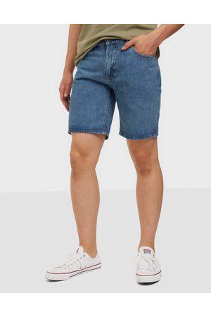 Woodbird Miehet Farkkushortsit - Doc Stone Blue Shorts Shortsit Blue