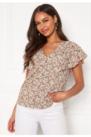 Happy Holly Naiset Paitapuserot - Fiona blouse Light pink / Patterned 36/38