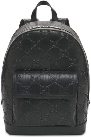 GUCCI Miehet Reput - Gg Embossed Leather Backpack