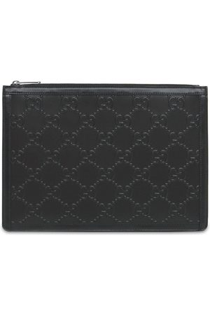 Gucci Miehet Lompakot - Gg Embossed Leather Pouch