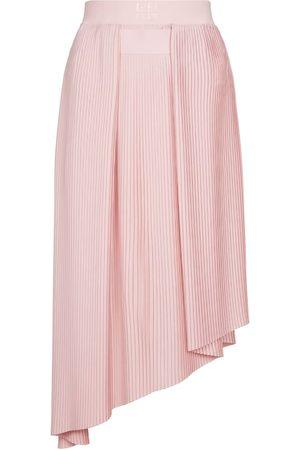 Givenchy Naiset Midihameet - Pleated crêpe de chine midi skirt