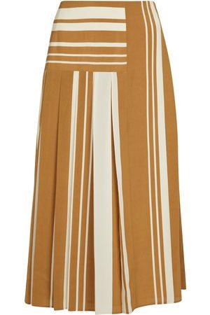 Joseph Naiset Midihameet - Swanson striped crêpe midi skirt