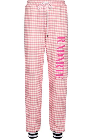 RODARTE Gingham cotton-blend sweatpants