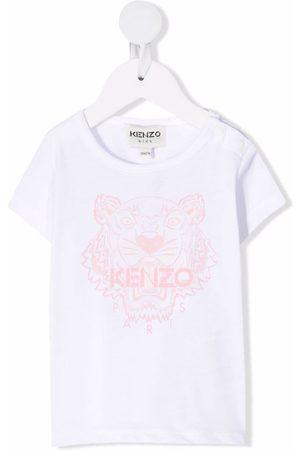Kenzo Kids Tiger-print cotton T-shirt